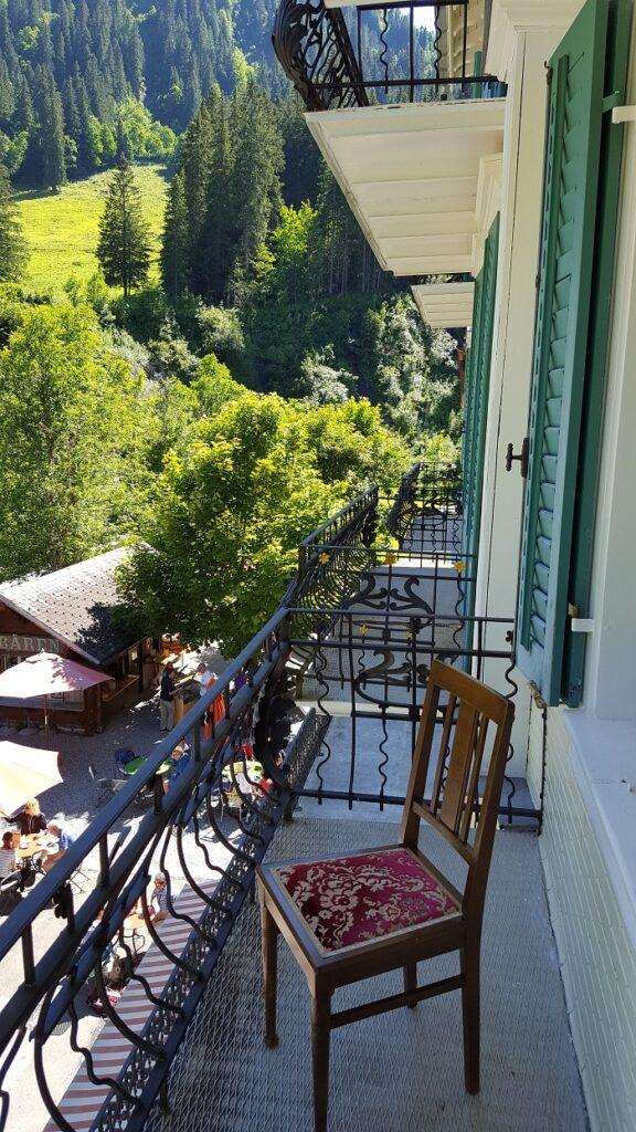 Hotel Rosenlaui Hotelzimmer mit Balkon