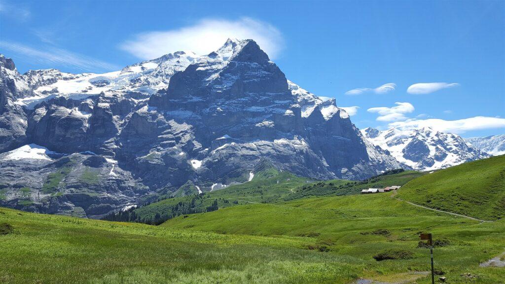 Bergpanorama ab grosse Scheidegg